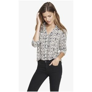 EXPRESS Print Convertible Sleeve Portofino Shirt